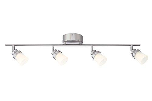 Brushed nickel led track lighting kit with 4 led track lights brushed nickel led track lighting kit with 4 led track lights aloadofball Gallery