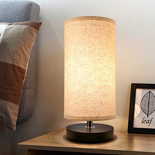 Aooshine Minimalist Solid Wood Table Lamp Bedside Desk