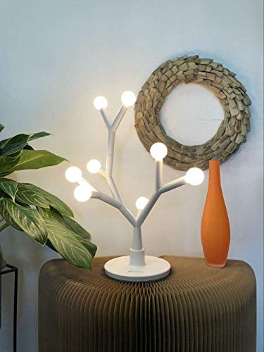Led Table Lamp Decorative Tree Branch White Bulb
