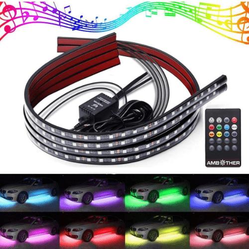 2. AMBOTHER LED Neon Underbody Light Kits